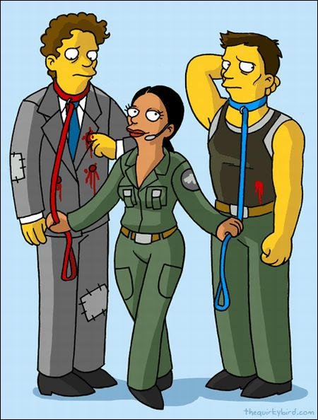 Battlestar Galactica Characters Simpsons Style (14 pics)