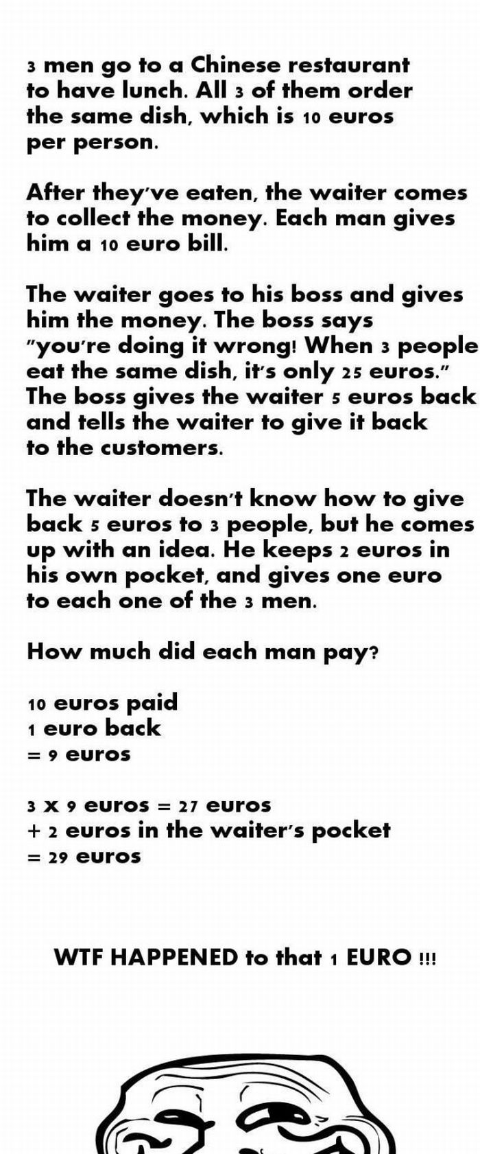 Riddle of the Day: Count Money (1 pic)