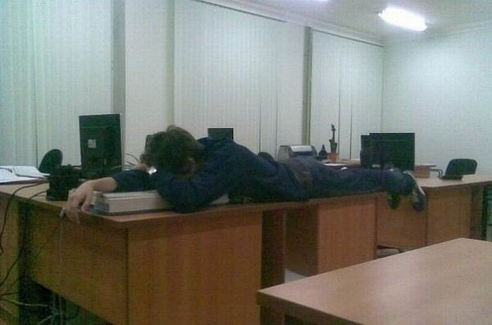 Sleeping at Work (17 pics)