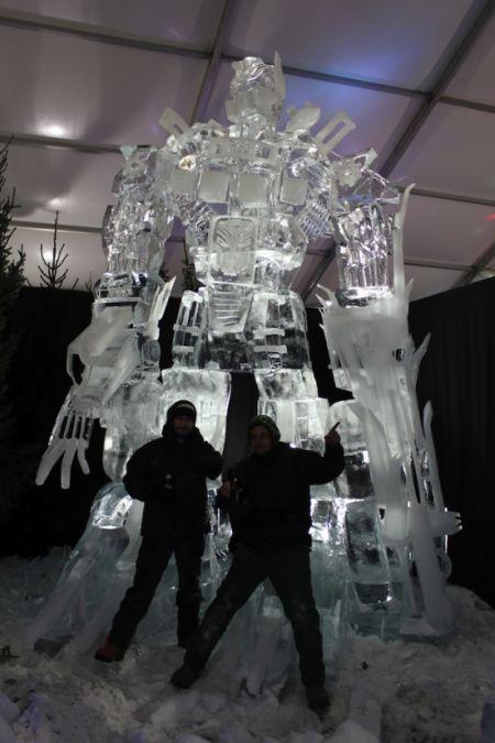 Optimus Prime [Escultura de hielo]