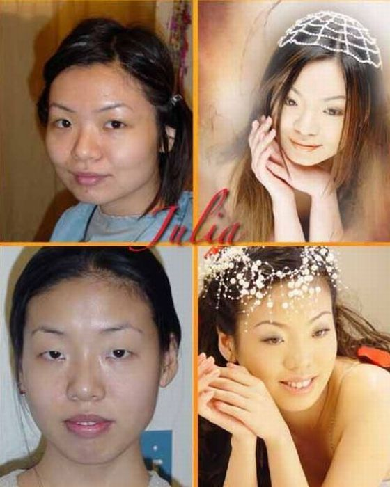 Girls Before and After Makeup (21 pics)