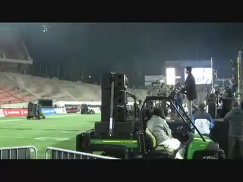 Soundcheck in a Stadium