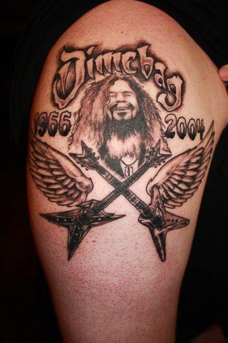 Dimebag Darrell Tribute Tattoos (100 pics)