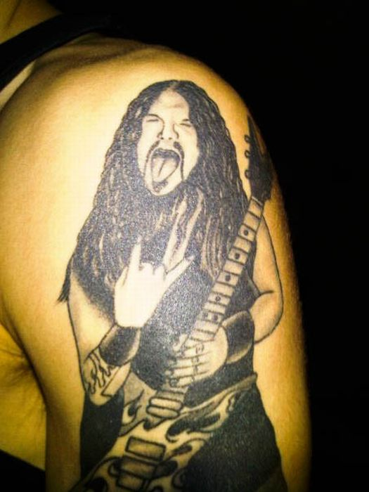 Dimebag Darrell Tribute Tattoos (100 pics)