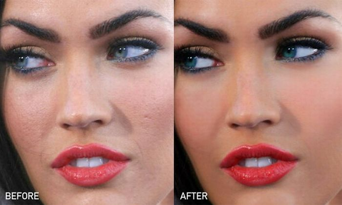 Megan Fox Being Photoshopped (12 pics)