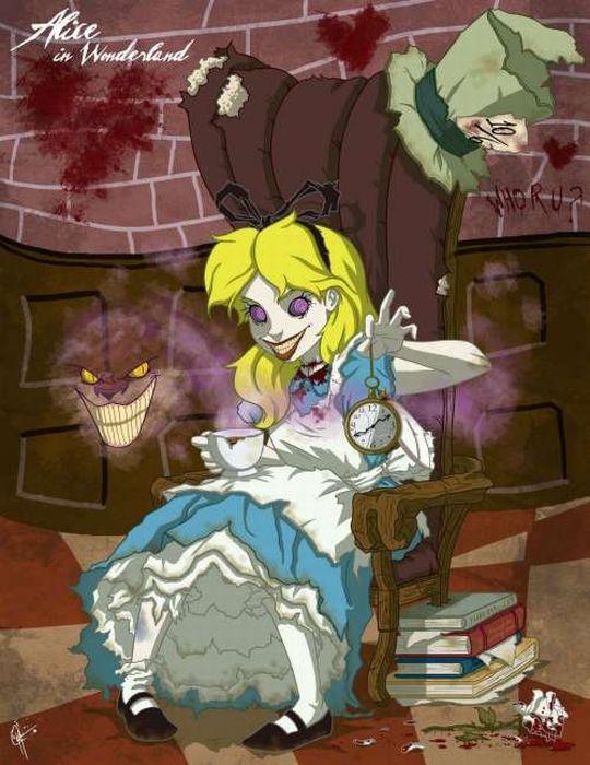 Scary Disney Princesses (14 pics)