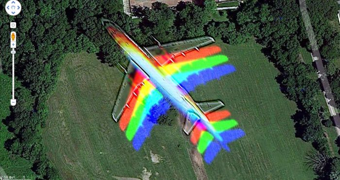 Rainbow Plane over Hyde Park in Chicago (6 pics)