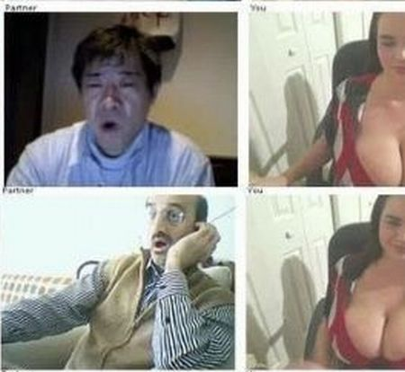 Girl with Big Boobs and Reactions of Men (16 pics)