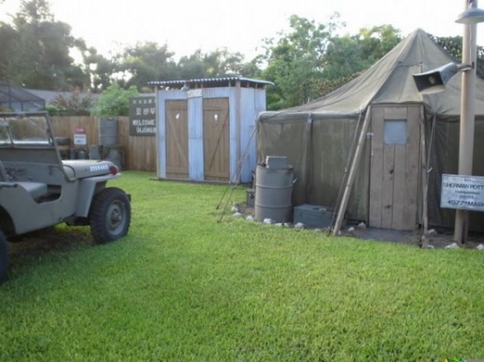 Fan Builds M.A.S.H. Set in His Own Backyard (7 pics)