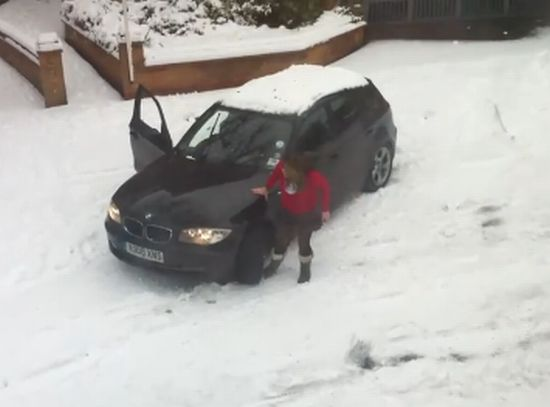 Driving in Snow Ends with Fail