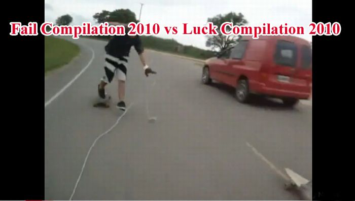 Fail Compilation 2010 vs Luck Compilation 2010 (2 video)