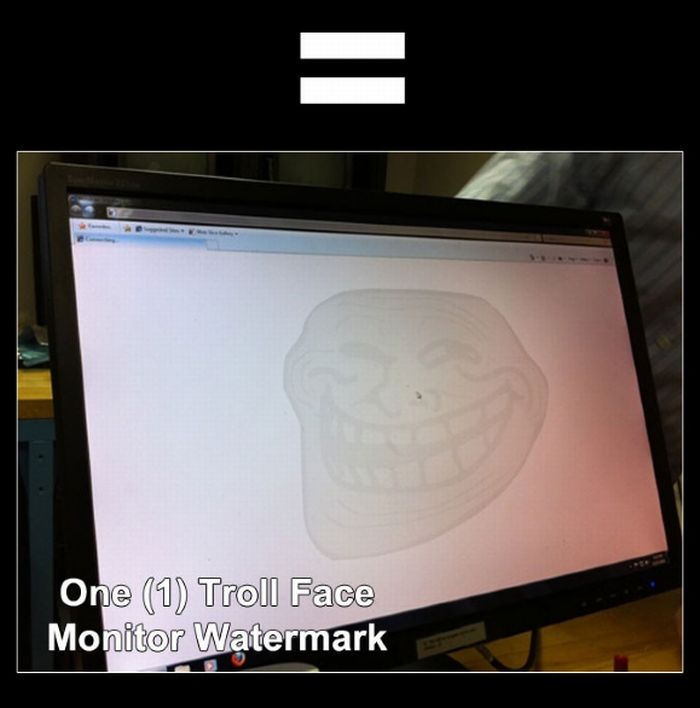 How to Make One Troll Face Monitor Watermark (4 pics)