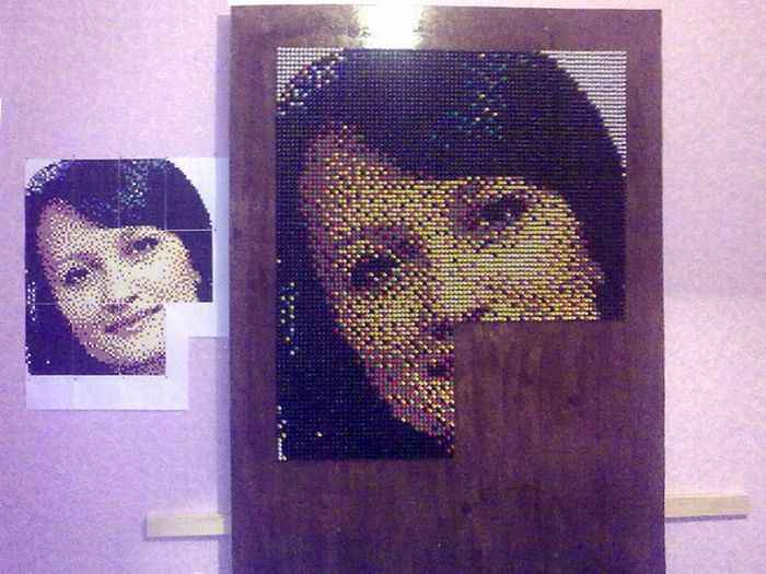 How to Create a Push Pin Portrait (29 pics)