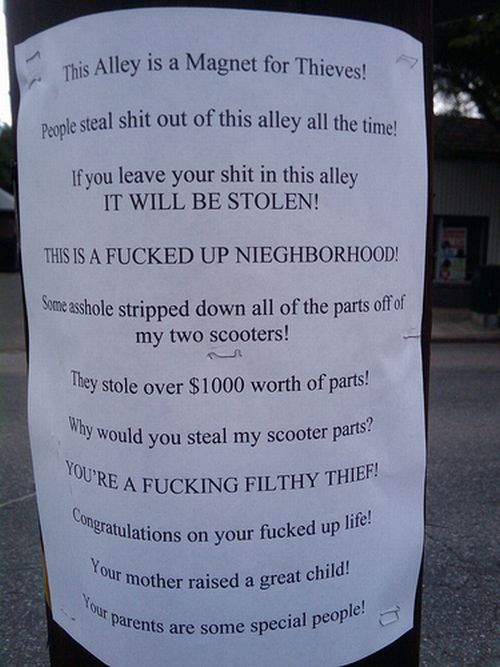 Messages to Thieves (24 pics)