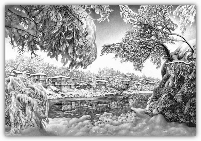 Beautiful Winter Drawings (58 pics)