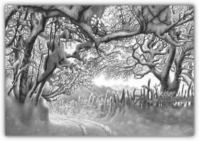 Paisajes de invierno dibujados con lápiz [Parte 2] - Taringa!
