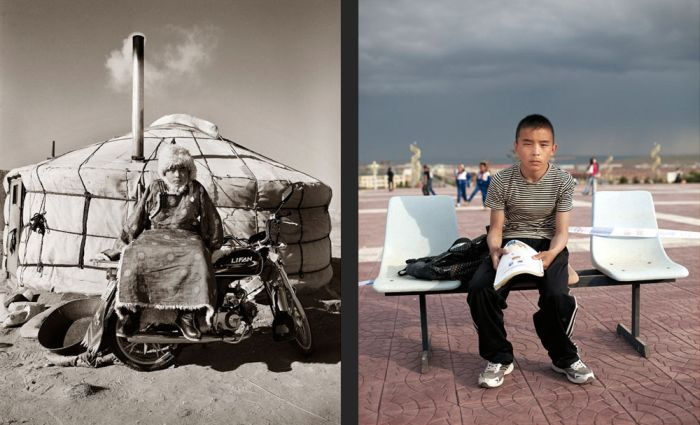 Kids from Mongolia Then and Now (14 pics)