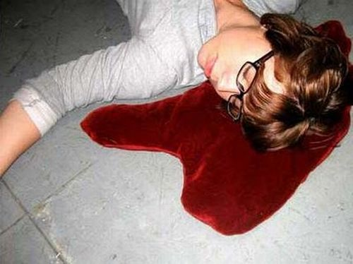 Blood Puddle Pillows (8 pics)