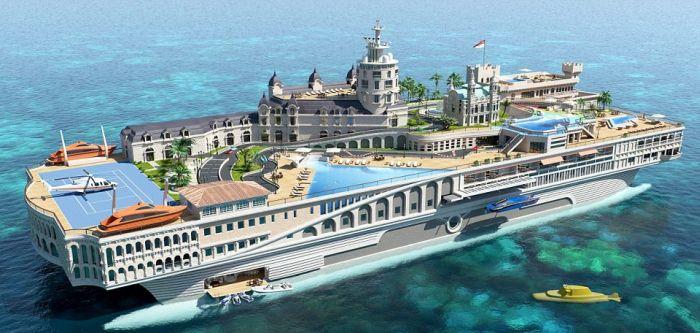 The Streets of Monaco super-yacht (4 pics)