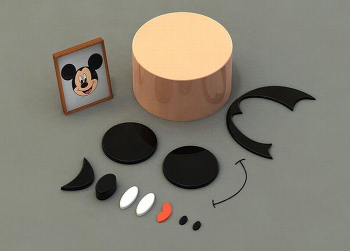 Disney Characters Deconstructed (4 pics)