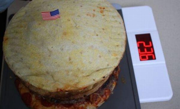 A Double Decker Pizza Burger (26 pics)