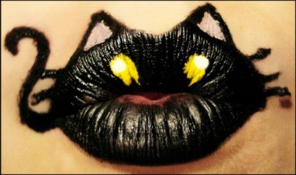 Bodyart on Lips (7 pics)