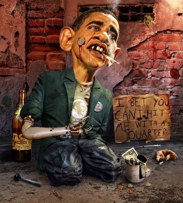 Photo Manipulated Caricatures - President Obama (15 pics)