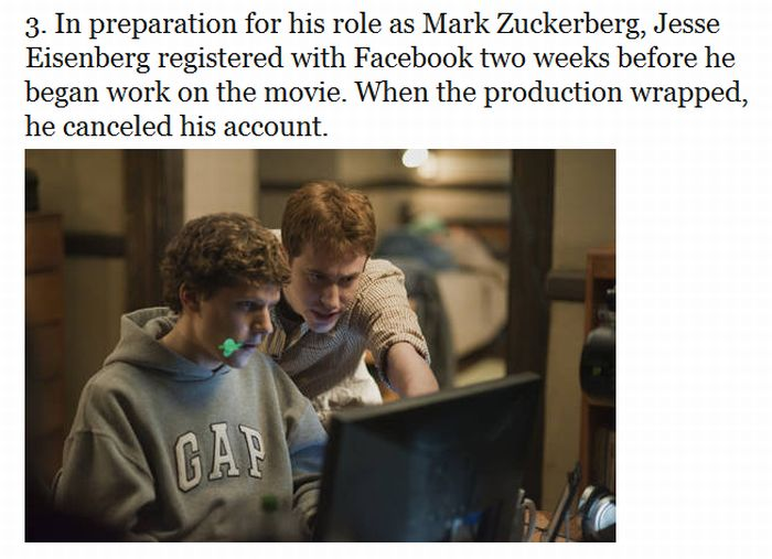"12 Things You Probably Didn't Know About ""The Social Network"" (12 pics)"