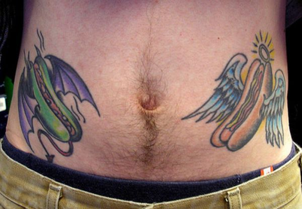 Funny Hot Dog Tattoos (10 pics)
