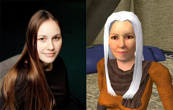 Real Faces vs. Game Avatars (15 pics)