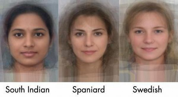 The Average Face of Women Across the World (14 pics)