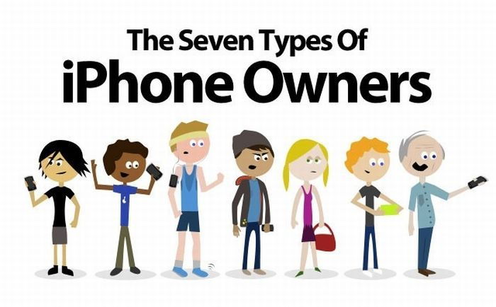 The Seven Types of iPhone Owners (infographic)