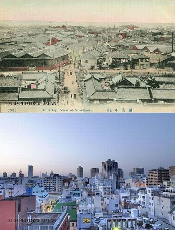 Photos of Japan Then and Now (12 pics)