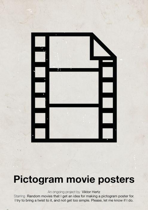 Pictogram Movie Posters (12 pics)