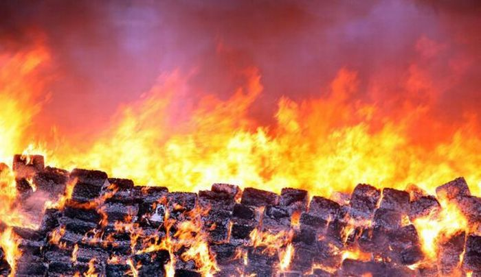 Mexico Burns 134 Tons of Confiscated Marijuana (13 pics)