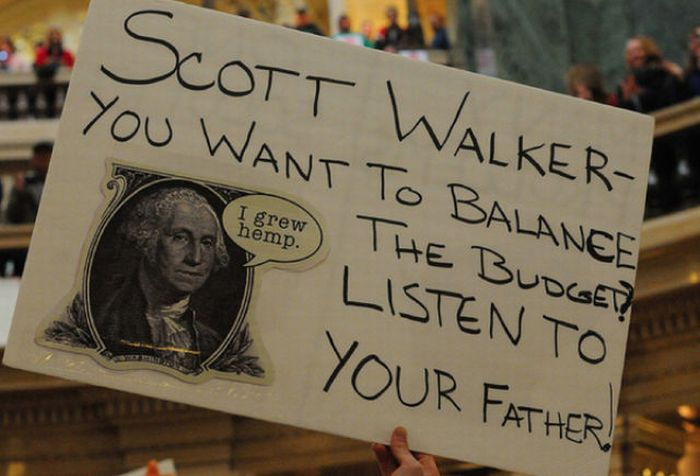 Best Protest Signs At The Wisconsin Capitol (45 pics)