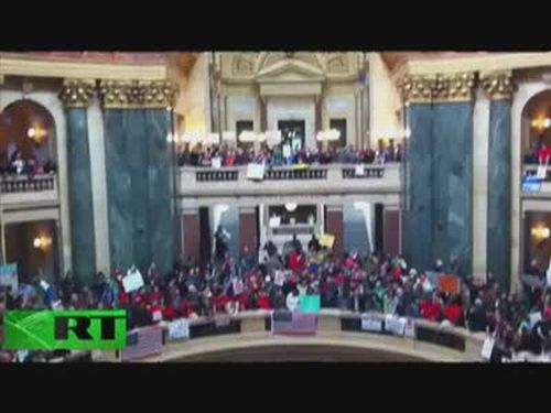 13,000 Workers Protesting in Wisconsin