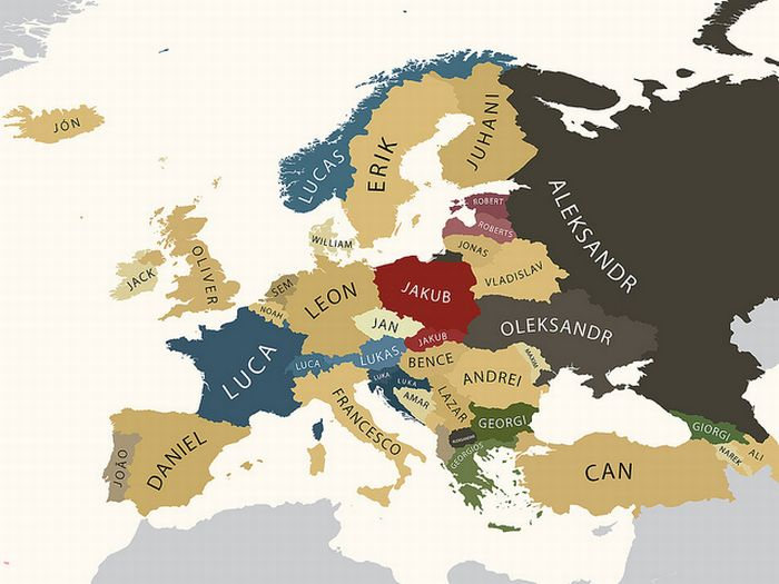 Europe's Most Popular Names (2 pics)