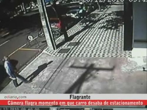 Car Falls Down From the Parking