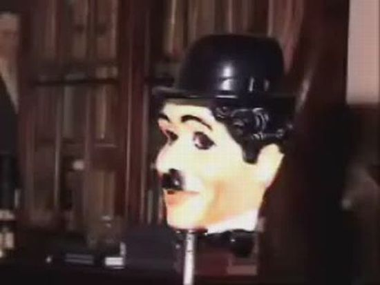 Awesome Charlie Chaplin Mask Illusion