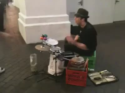 Great Performance by a Street Musician
