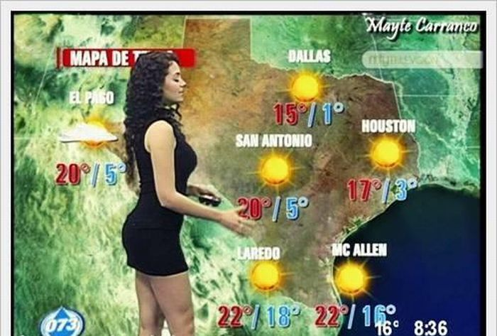Weather Forecasts in Latin America and Middle East (9 pics)