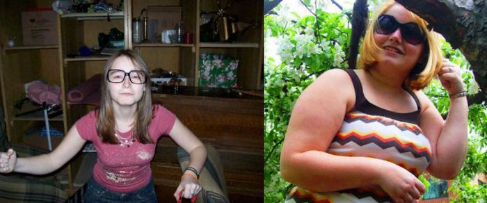 Girls Before and After... Junk Food (17 pics)