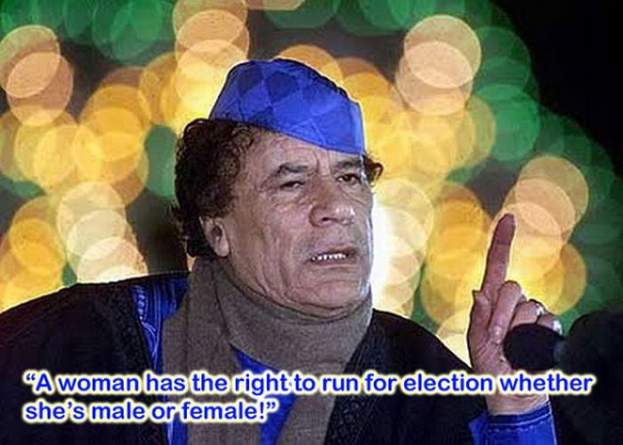 Silliest Gadaffi Quotes (8 pics)