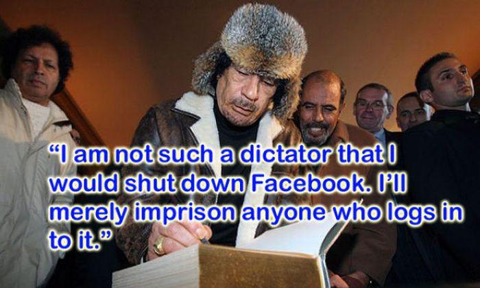 Silliest Gadaffi Quotes (8 pics)
