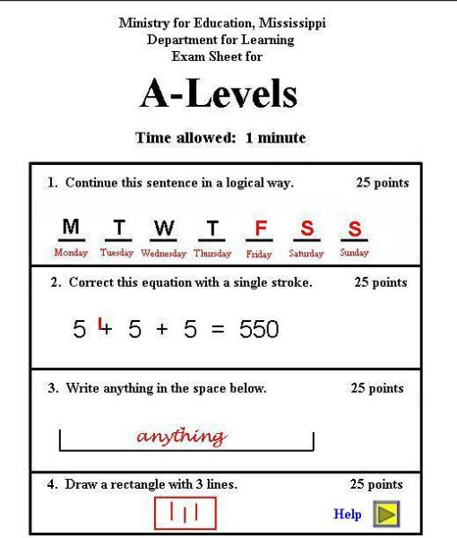 Try to Pass This Exam (2 pics)
