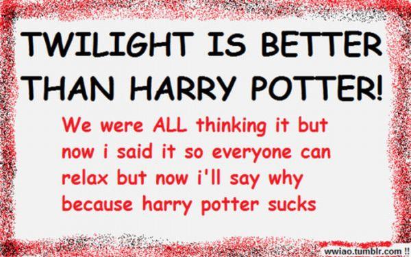 Twilight Vs Harry Potter (6 pics)