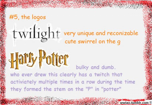 Twilight Vs Harry Potter (6 pics)