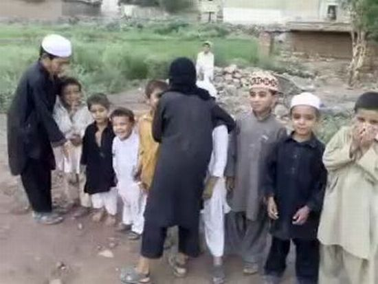 Pakistani Children Playing Suicide Bomber