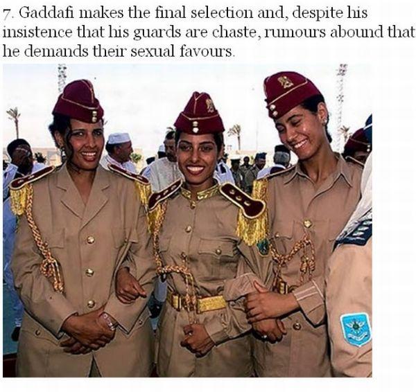 Facts About Gadaffi's Amazonian Guard (7 pics)